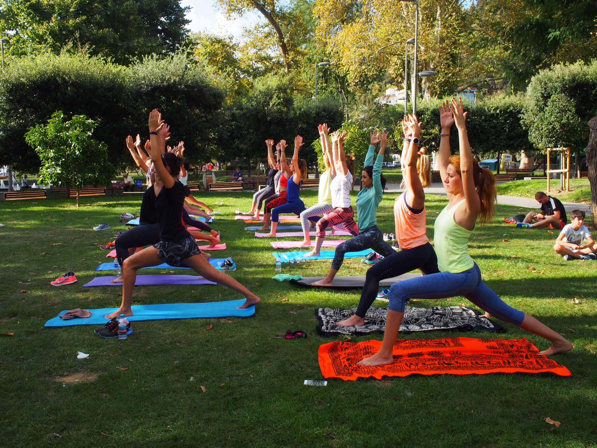 BuKızlar ile Bebek Park'ta Yoga